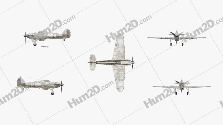 Hawker Hurricane Aircraft clipart