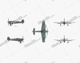 Hawker Typhoon Flugzeug clipart