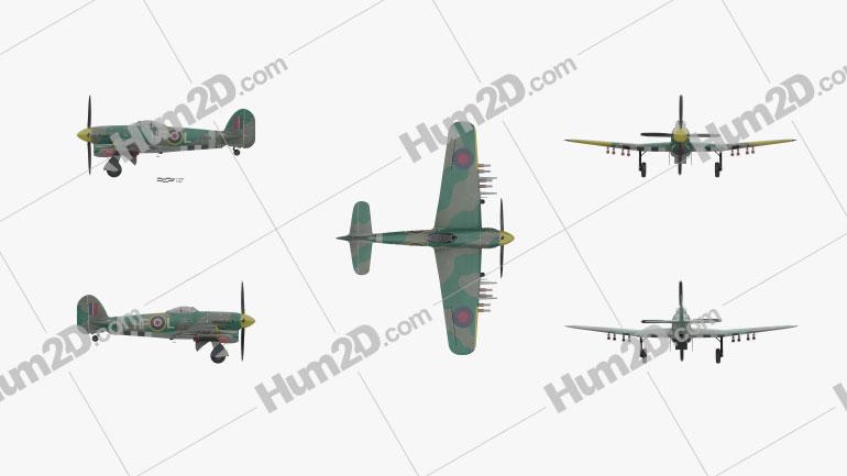 Hawker Typhoon Aircraft clipart