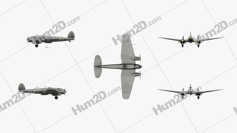 Heinkel He 111 Aircraft clipart