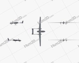 IAI Heron Aircraft clipart