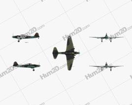 Ilyushin Il-2 Sturmovik Aircraft clipart