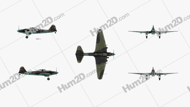 Ilyushin Il-2 Sturmovik Clipart Image