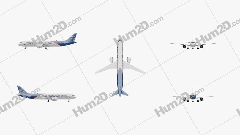 Irkut MC-21 Aircraft clipart