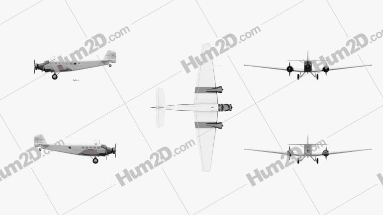 Junkers Ju 52 Aircraft clipart