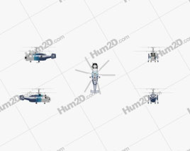 Kamov Ka-32 Transport Helicopter Aircraft clipart