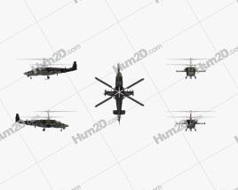 Kamov Ka-52 Alligator Helicóptero de Ataque Aeronave clipart
