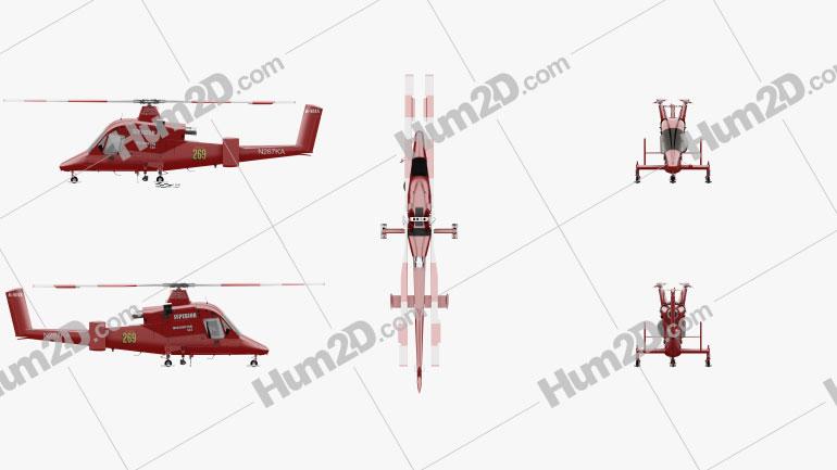 Kaman K-MAX Medium Helicóptero de Elevação Aeronave clipart