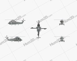Kaman SH-2G Super Seasprite ASW Helicopter Aeronave clipart