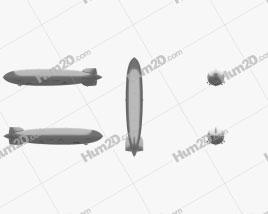 LZ 129 Hindenburg Zeppelin Clipart