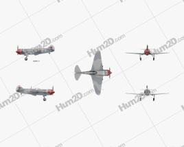 Lavochkin La-7 Aircraft clipart
