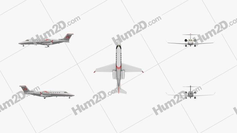 Learjet 75 Flugzeug clipart