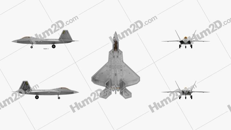 Lockheed Martin F-22 Raptor Aircraft clipart