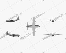 Lockheed C-130 Hercules Aircraft clipart
