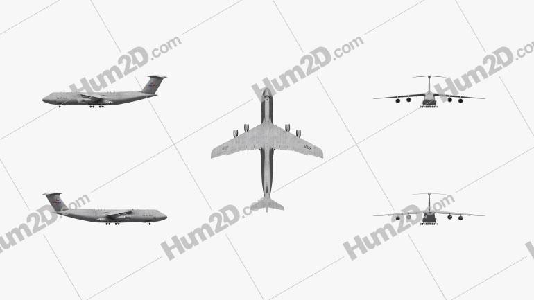 Lockheed C-5 Galaxy Aircraft clipart