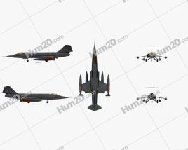 Lockheed F-104 Starfighter Aeronave clipart