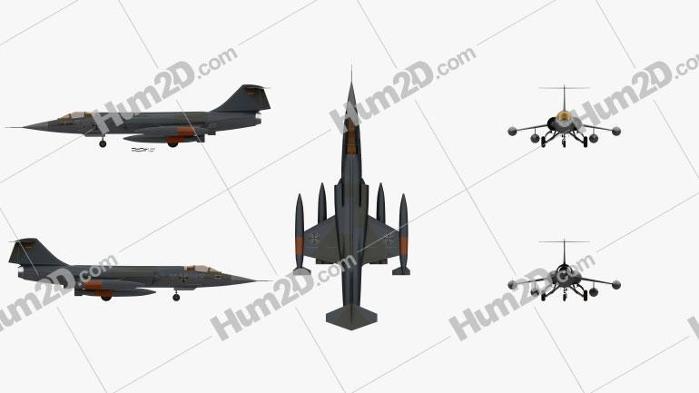 Lockheed F-104 Starfighter Aircraft clipart