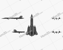 Lockheed SR-71 Blackbird Aircraft clipart