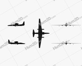Lockheed U-2S Aircraft clipart