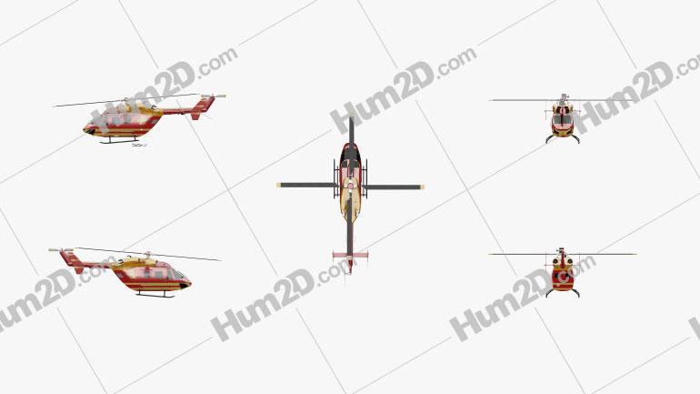 MBB/Kawasaki BK 117 Utility/Transport Helicopter Aircraft clipart