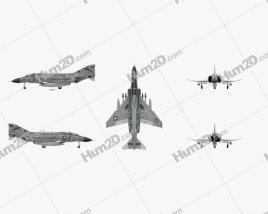 McDonnell Douglas F-4 Phantom II Flugzeug clipart