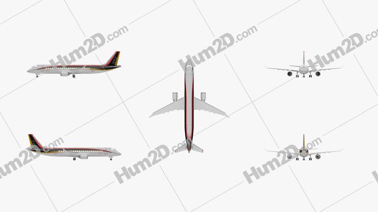 Mitsubishi Regional Jet 90 Flugzeug clipart
