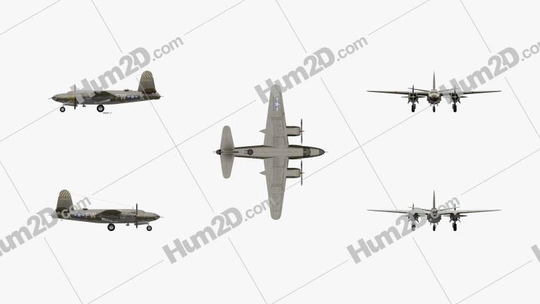 Martin B-26 Marauder Aircraft clipart
