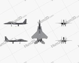 McDonnell Douglas F-15E Strike Eagle Aircraft clipart
