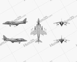 McDonnell Douglas AV-8B Harrier II Aircraft clipart