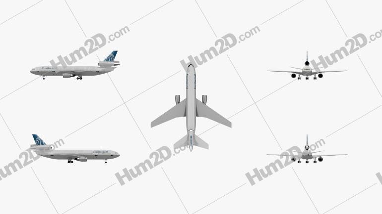 McDonnell Douglas DC-10 Aircraft clipart