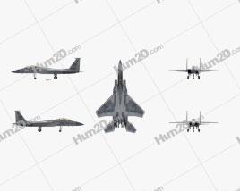 McDonnell Douglas F-15 Eagle Flugzeug clipart
