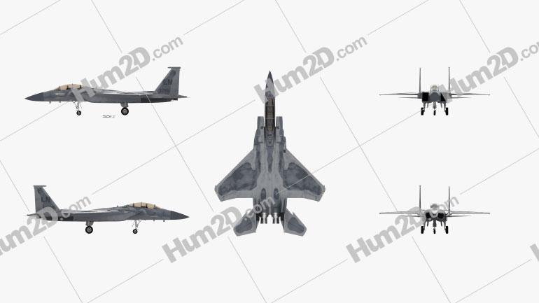McDonnell Douglas F-15 Eagle Aircraft clipart
