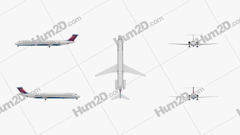 McDonnell Douglas MD-80 Aircraft clipart