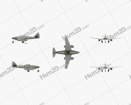 Messerschmitt Me 262 Aircraft clipart