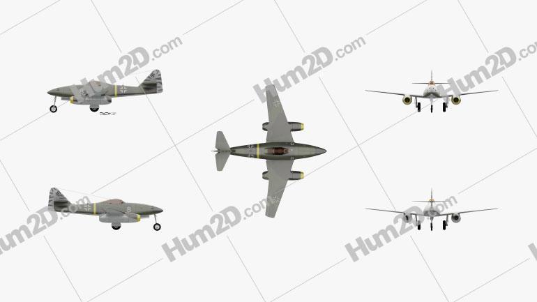 Messerschmitt Me 262 Clipart Image
