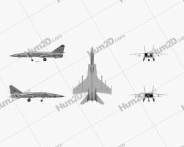 Mikoyan-Gurevich MiG-25 Aircraft clipart