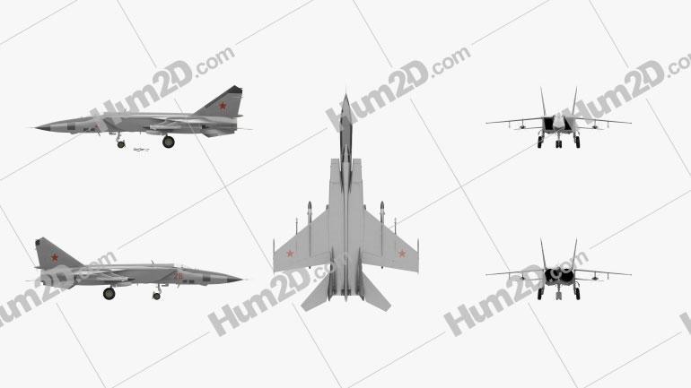 Mikoyan-Gurevich MiG-25 Flugzeug clipart