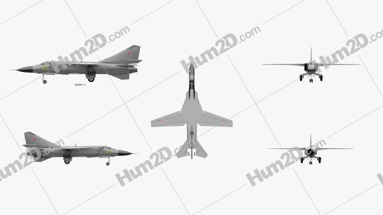 Mikoyan Gurevich MiG-23 Flugzeug clipart
