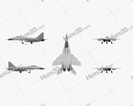 Mikoyan MiG-29 Flugzeug clipart