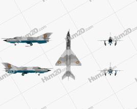 Mikoyan-Gurevich MiG-21 Aircraft clipart