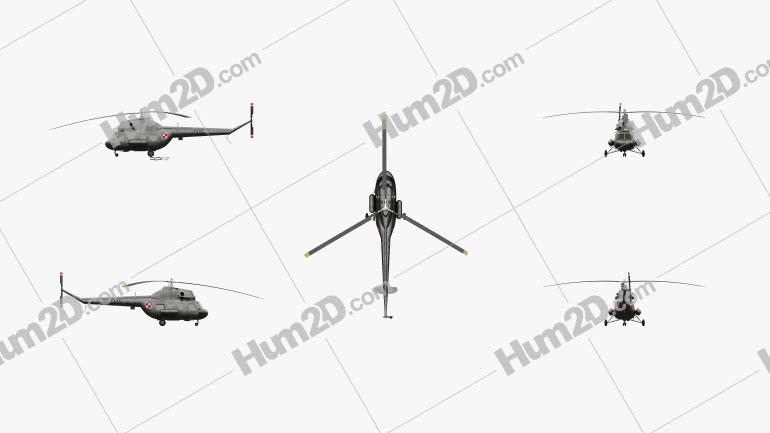 Mil Mi-2 Pequeno Helicóptero de transporte Aeronave clipart
