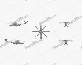 Mil Mi-26 Helicóptero de Carga Aeronave clipart