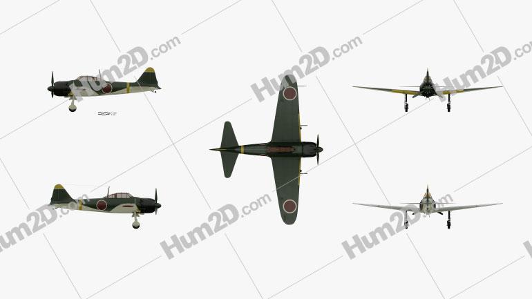 Mitsubishi A6M Zero Aircraft clipart