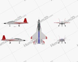 Mitsubishi ATD-X Shinshin Fighter Jet Aircraft clipart