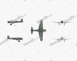 Mitsubishi Ki-51 Aircraft clipart