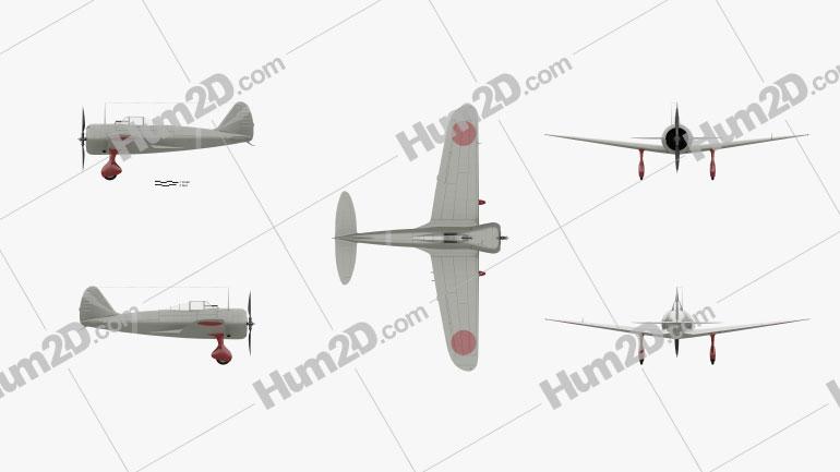Nakajima Ki-27 Aircraft clipart