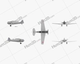 North American T-6 Texan Aircraft clipart