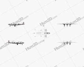 North American B-25 Mitchell Aircraft clipart