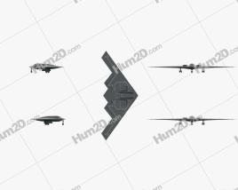Northrop B-2 Spirit Flugzeug clipart