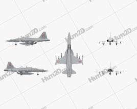Northrop F-5 Aircraft clipart